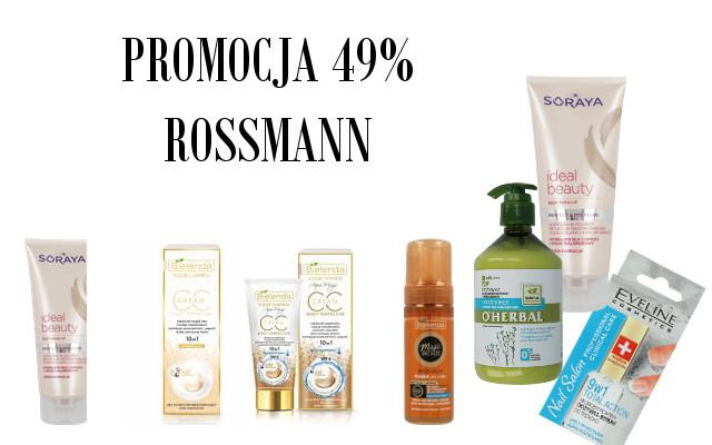 ROSSMANN Promocja 49% na pielęgnację.