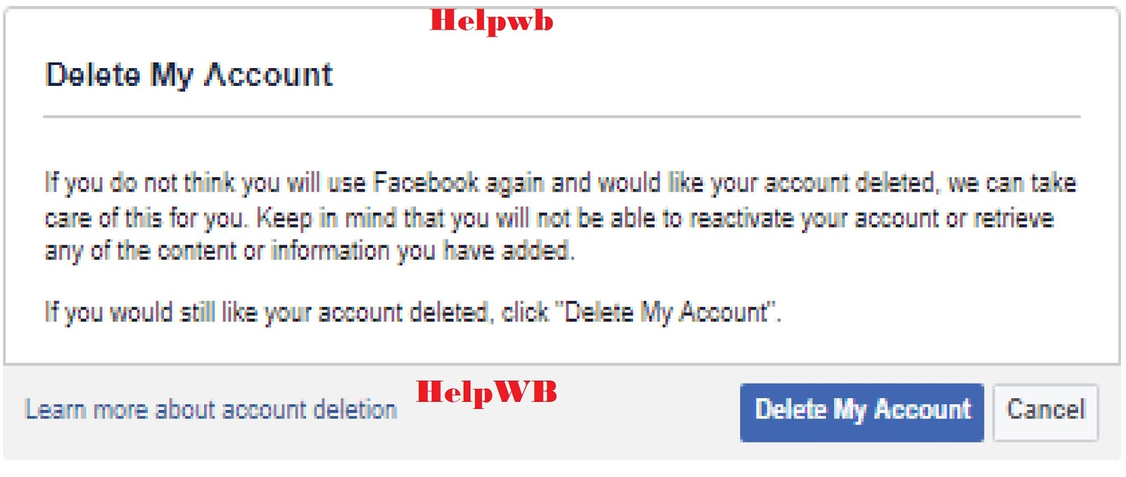 Facebook account permanently delete or deactivate kivabe kore helpwb facebook account permanently delete or deactivate kivabe kore ccuart Image collections