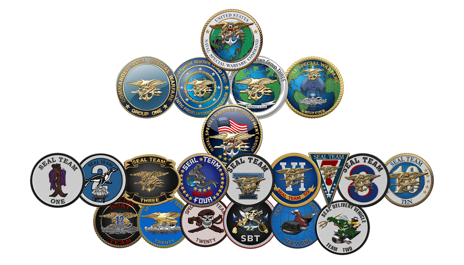 Military Insignia 3D : Naval Special Warfare Command - NSWC ...