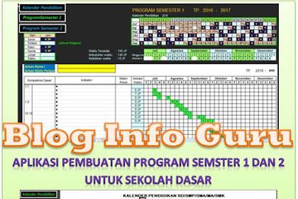 Aplikasi Pembuatan Program Pembelajaran Semester 1 dan 2 Untuk SD Format Microsoft Excel