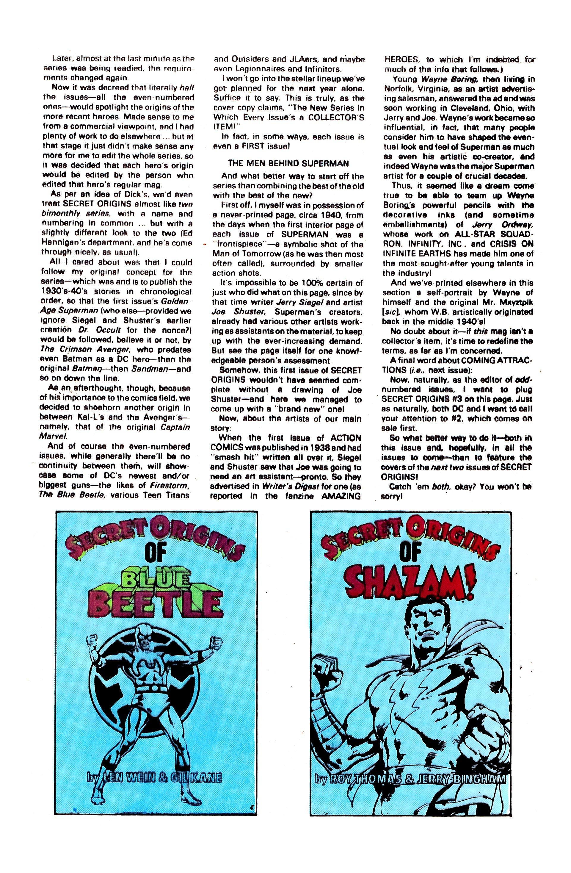 Read online Secret Origins (1986) comic -  Issue #1 - 33