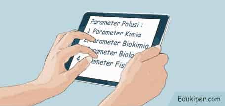 Parameter polusi untuk mengidentifikasi pencemaran