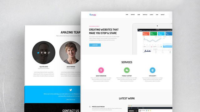 Butterfly - free website template provided by BootstrapTaste