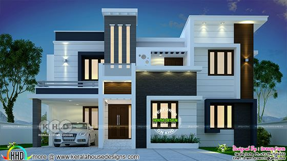 4 bedroom 2555 sq.ft contemporary home design