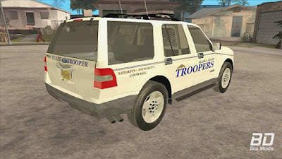 Download mod car viatura Alaska State Trooper 2008 Ford Expedition para o jogo GTA San Andreas