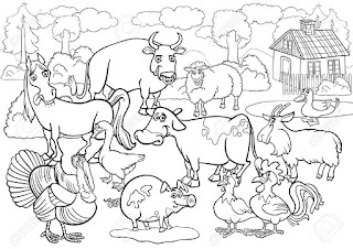 Adorable Animals In livestock Coloring Sheet For Free