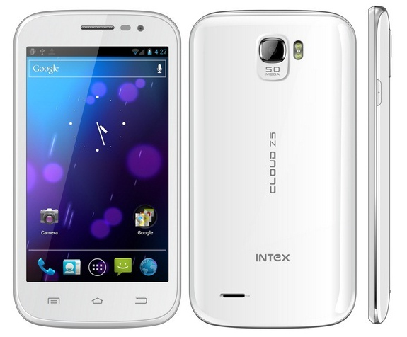 Intex Cloud Z5 specifications and price in India