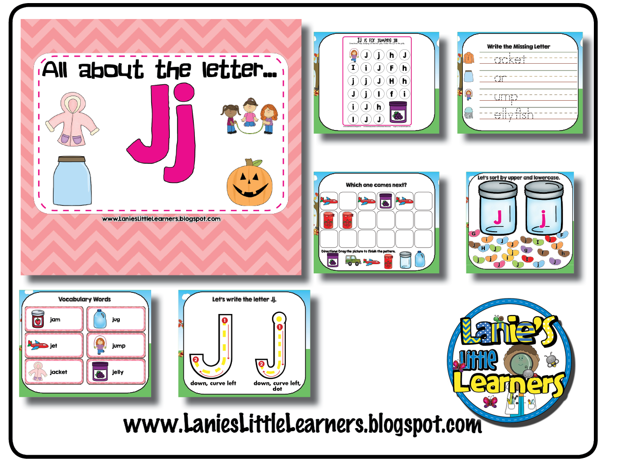 Lanie S Little Learners All About The Letter Jj Letter