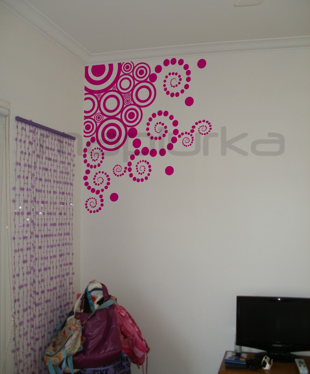 Mapiurka adhesivos decorativos ba vinilos arabescos en for Vinilo para habitacion de nena