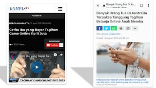 dampak negatif online