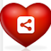 Floating heart model sharing and bookmarking gadget for blogger