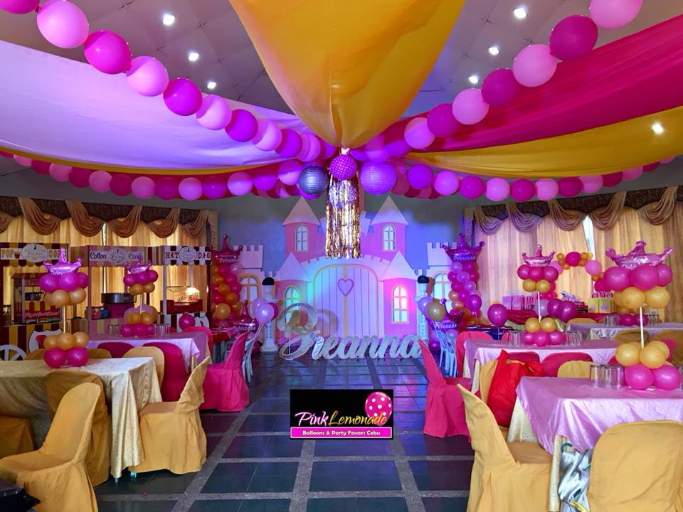 Plastic Flower Vase Cebu: Pink Lemonade Balloons And Party Favors Cebu: Royal
