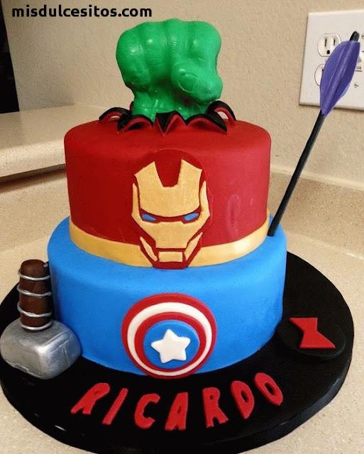 Venta de tortas personalizadas en todo Lima, Tortas Avengers