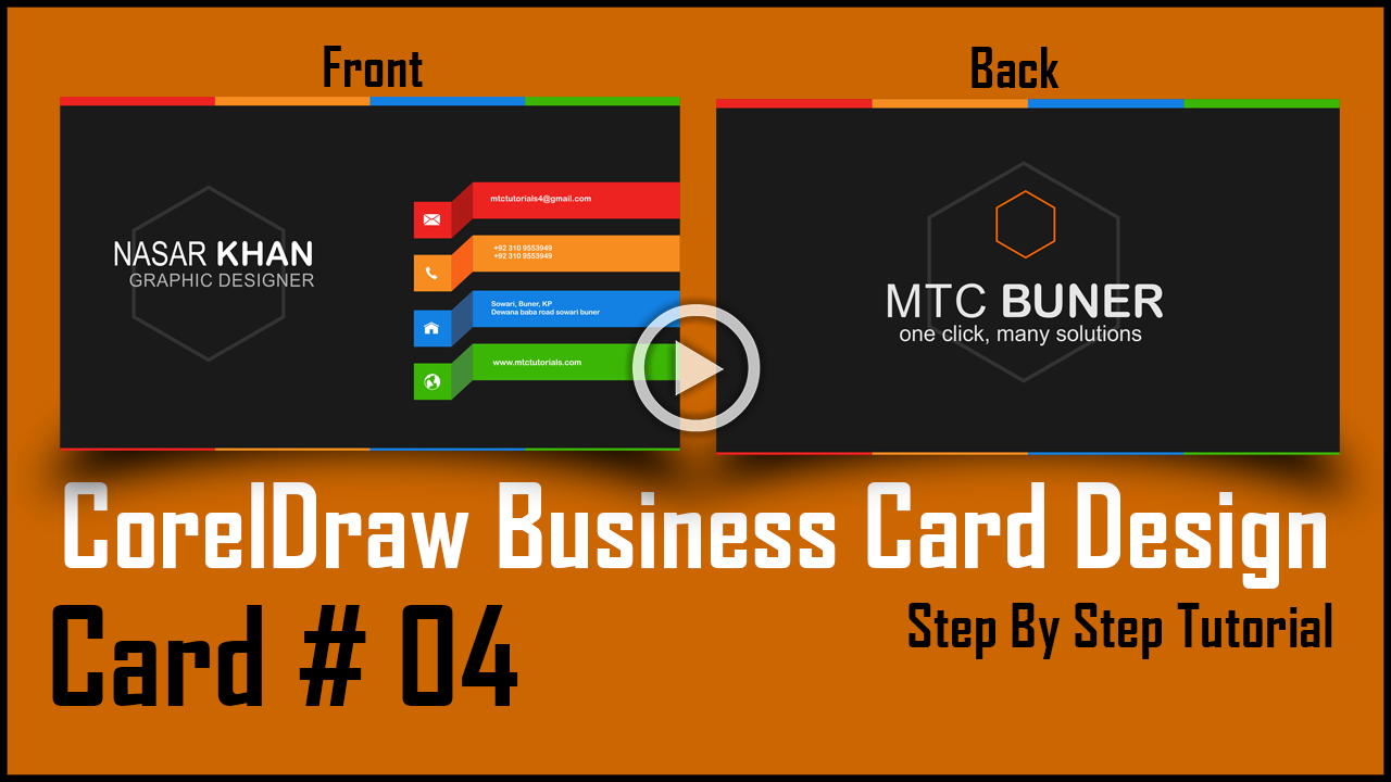 Mtc tutorials how to make a business card in coreldraw card no4 download this card for free reheart Image collections