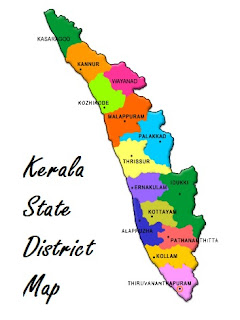 Kerala State District Map