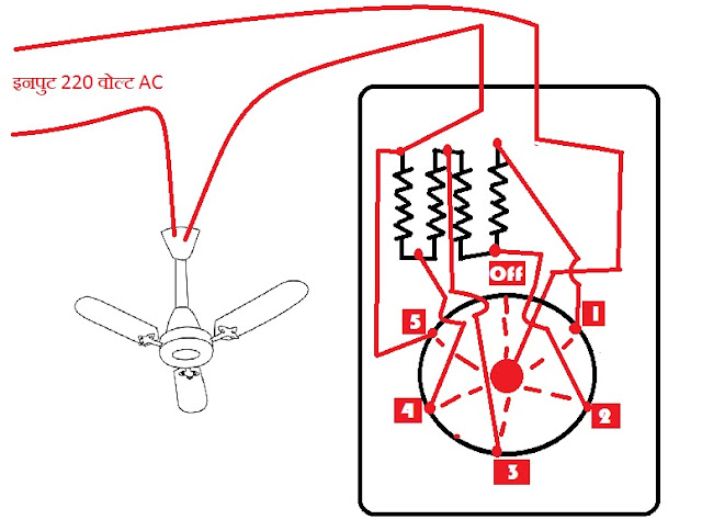 Home wiring fan speed controler regulator electronics connection diagram