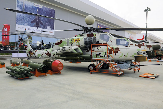 Image Attribute:  An upgraded variant of the Mi-28NE Night Hunter combat helicopter at the Army 2018 defense show in Kubinka near Moscow. / Source: Dr. Nikolai Novichkov