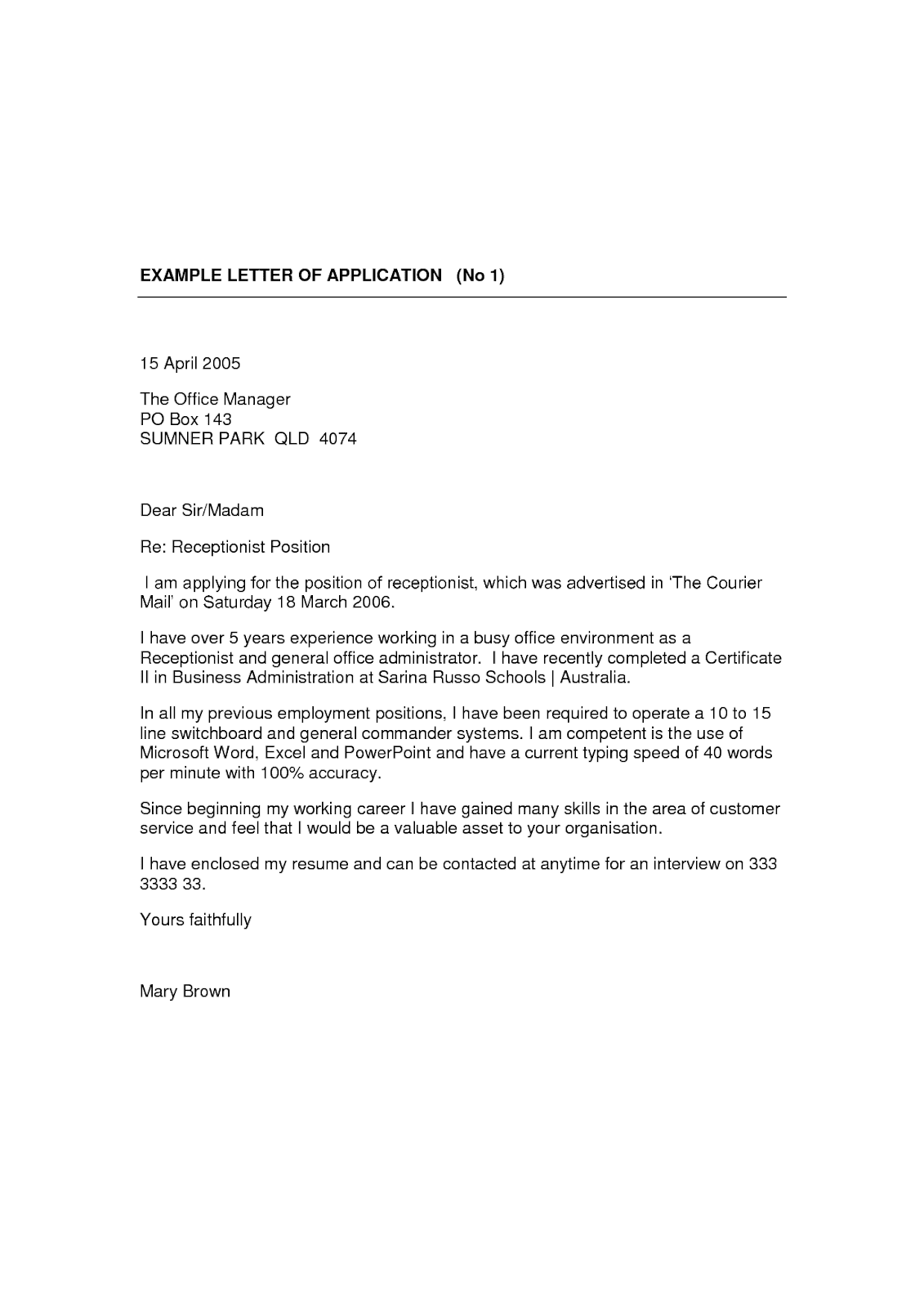Medical Receptionist Cover Letter No Experience