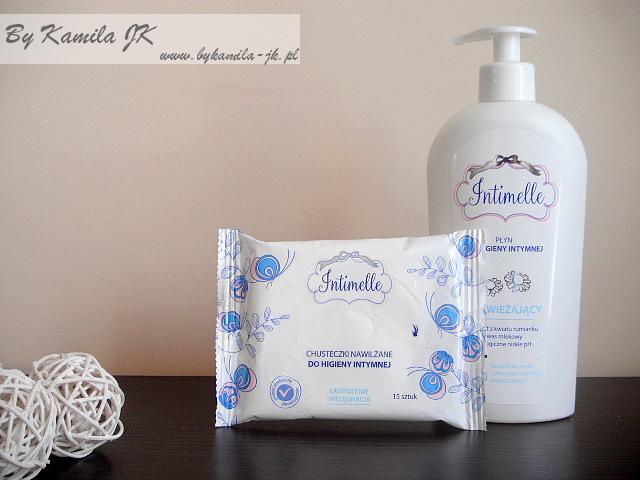 Intimelle odświeżający płyn chusteczki do higieny intymnej