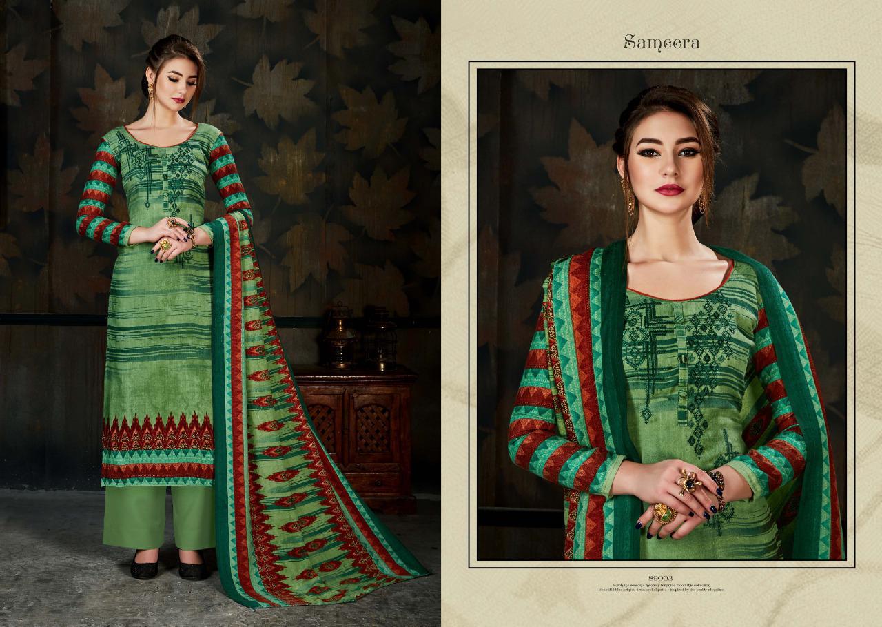 d00e8910df Sargam Print Sameera Pashmina Winter salwar kameez - Diwan fashion