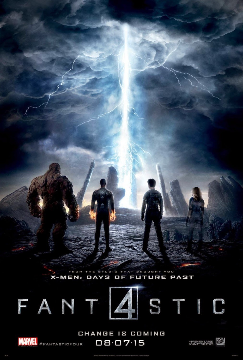 Fantastic Four 2nd Theatrical One Sheet Teaser Movie Poster