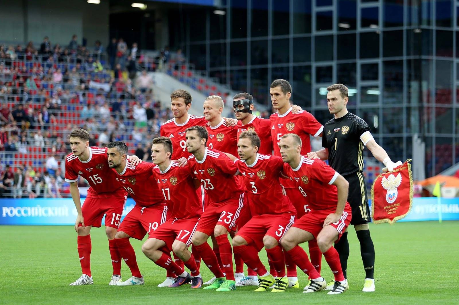 Formación de Rusia ante Chile, amistoso disputado el 9 de junio de 2017