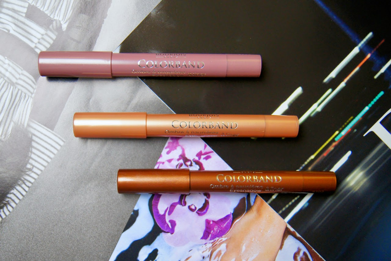 bourjois colorband 2-in-1 eyeshadow liner cream crayon review swatches