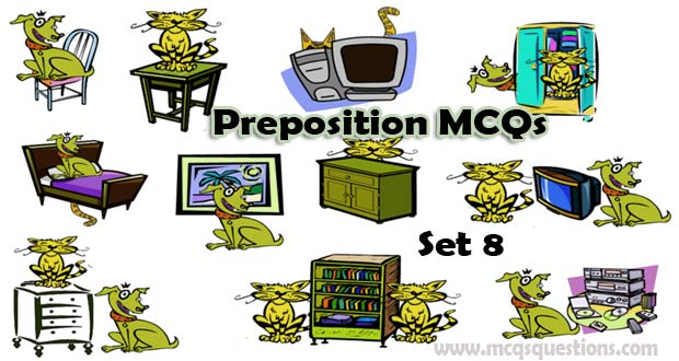 English Preposition MCQs With Answers Set 8