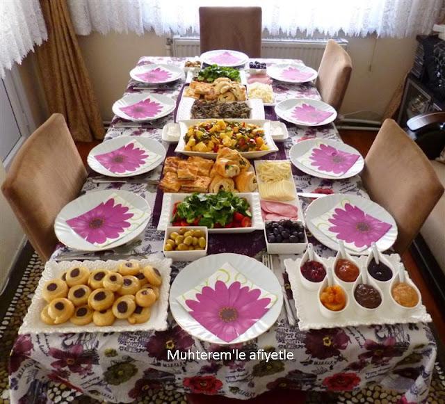 aile kahvaltısı menüsü