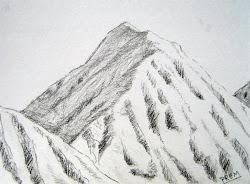 mountain simple drawings sketches pencil mountains nature drawing sketch drawn easy draw sketching prem artist paintings practice easiest visit explore