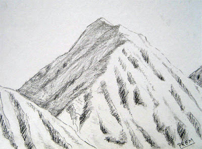 Drawing Picture of a Simple Mountain for Practice