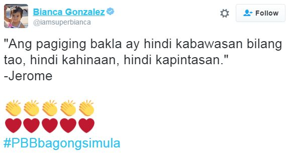 Bianca Gonzales Posted About A Gay PBB Housemate On Twitter! Find Out What She Said Here!