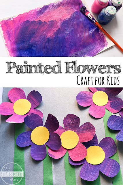 Painted Flower Craft for Kids