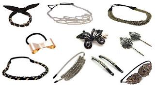 Exemples d'accessoires cheveux pour les fêtes
