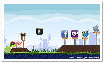angry google attack, angry bird, angry googel plus,