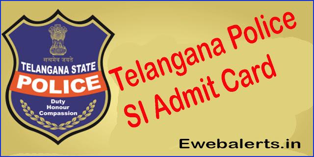 Telangana Police Sub Inspector (SI) Admit Card