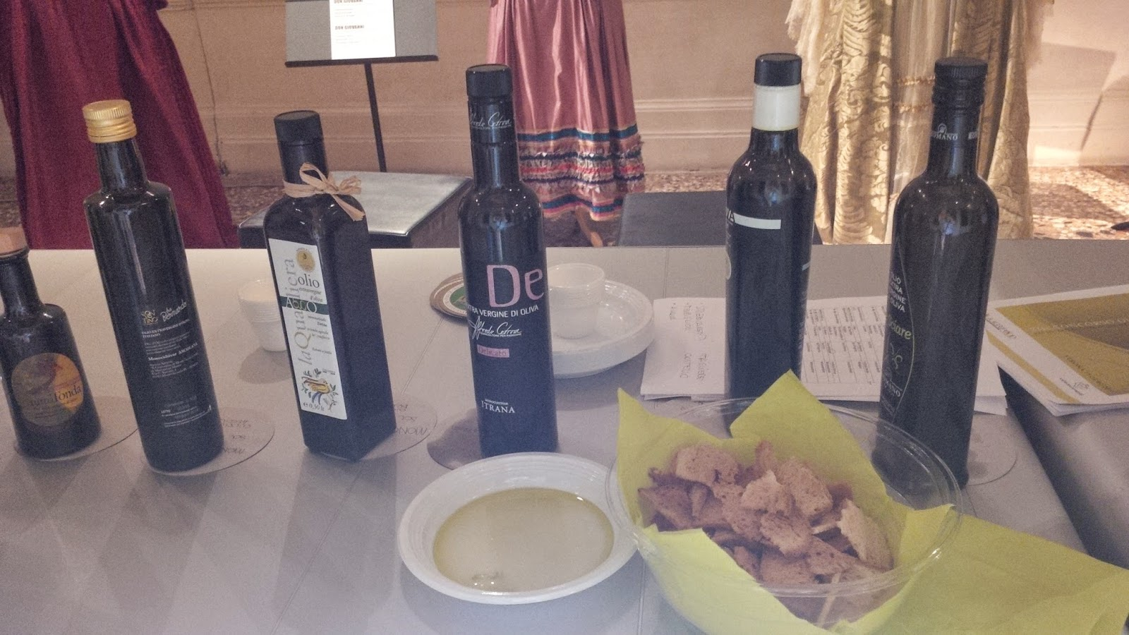 Award-winning bottles of Italian olive oils at Taste of Christmas event in AMO, Verona