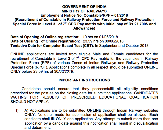 Rpf Application Form Pdf