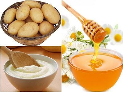 Cách làm trắng da đơn giản bằng khoai tây và mật ong