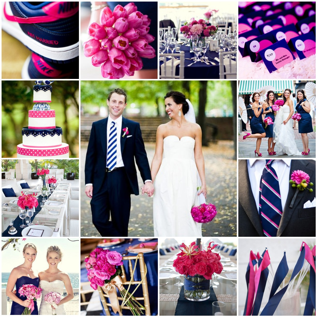 Blue And Pink Wedding Ideas: The Blushing Bride