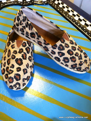 leopard painted shoes