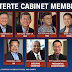 List of Pres. Duterte's Confirmed Cabinet Members (Updated)