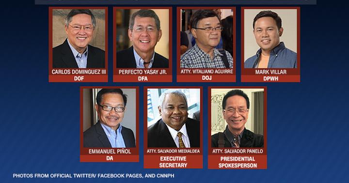 list of pres duterte s confirmed cabinet members updated philnews