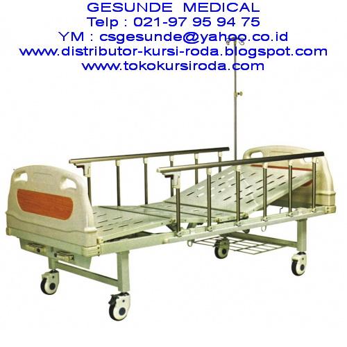 Harga Jual Ranjang Rumah Sakit ABS 2 Crank Manual Baru Bed Pasien Tempat Tidur 2 Engkol
