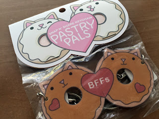 Donut Cat Pastry Pals Snap and Share Keychain by Marnin and Saylor