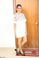 Lavanya Tripathi in Summer Style Spicy Short White Dress at her Interview  Exclusive 306.JPG