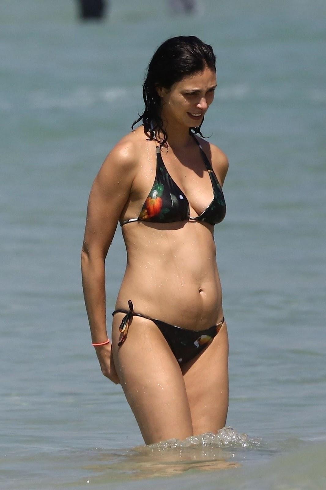 Morena Baccarin - At a beach in Rio de Janeiro, Brazil - 02/03/2019
