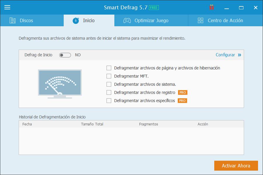 Smart Defrag 5 desfragmentacion disco