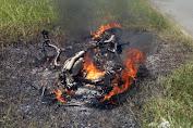 Ini Pemilik Sepeda Motor Yang Terbakar Di Km.11 Jalan Lintas Tebo-Bungo