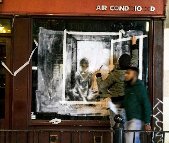 "Borondo ""Dia - Noche"" New Street Piece - East London (Part II) 2"